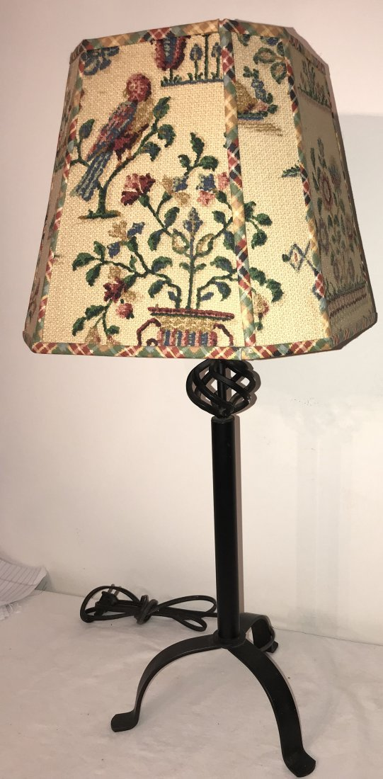 Reproduction Wrought Steel Table Lamp - 3