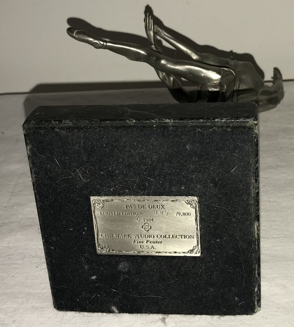 Grouping of 4 Pewter Sculptures - 7