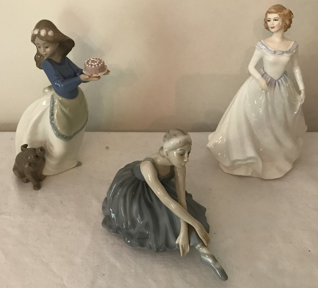 3 Porcelain Figurines