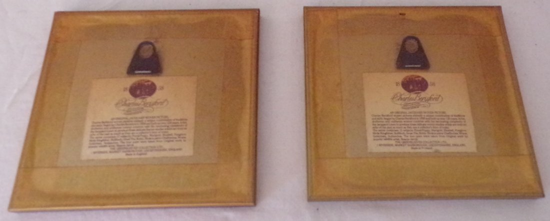 Pair of English Jacquard Woven Pictures - 2