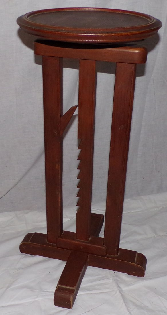 Reproduction Country Wagon Jack Candlestand - 2