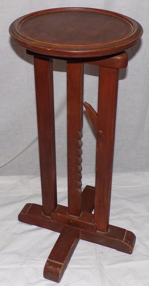 Reproduction Country Wagon Jack Candlestand - 4