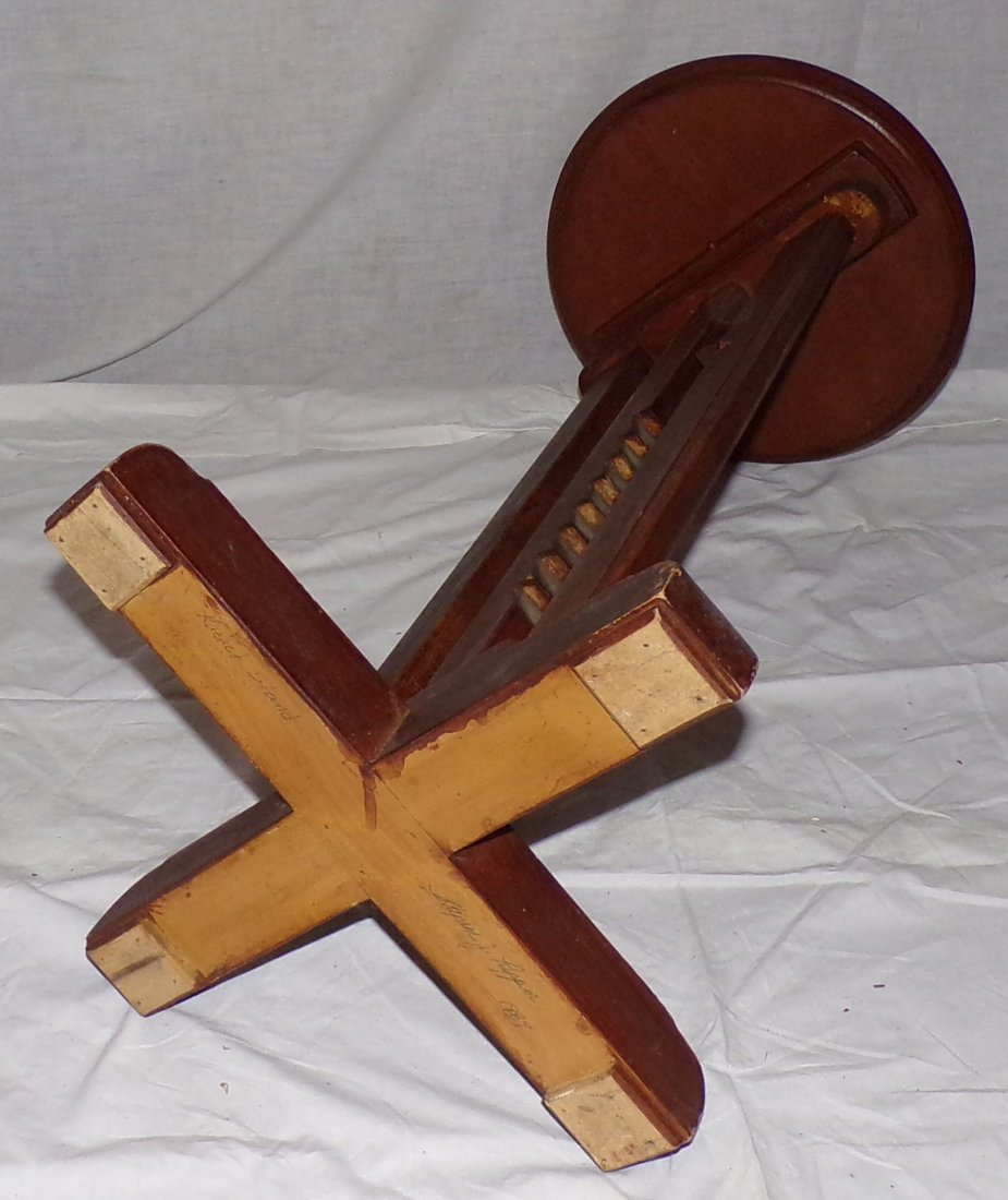 Reproduction Country Wagon Jack Candlestand - 5