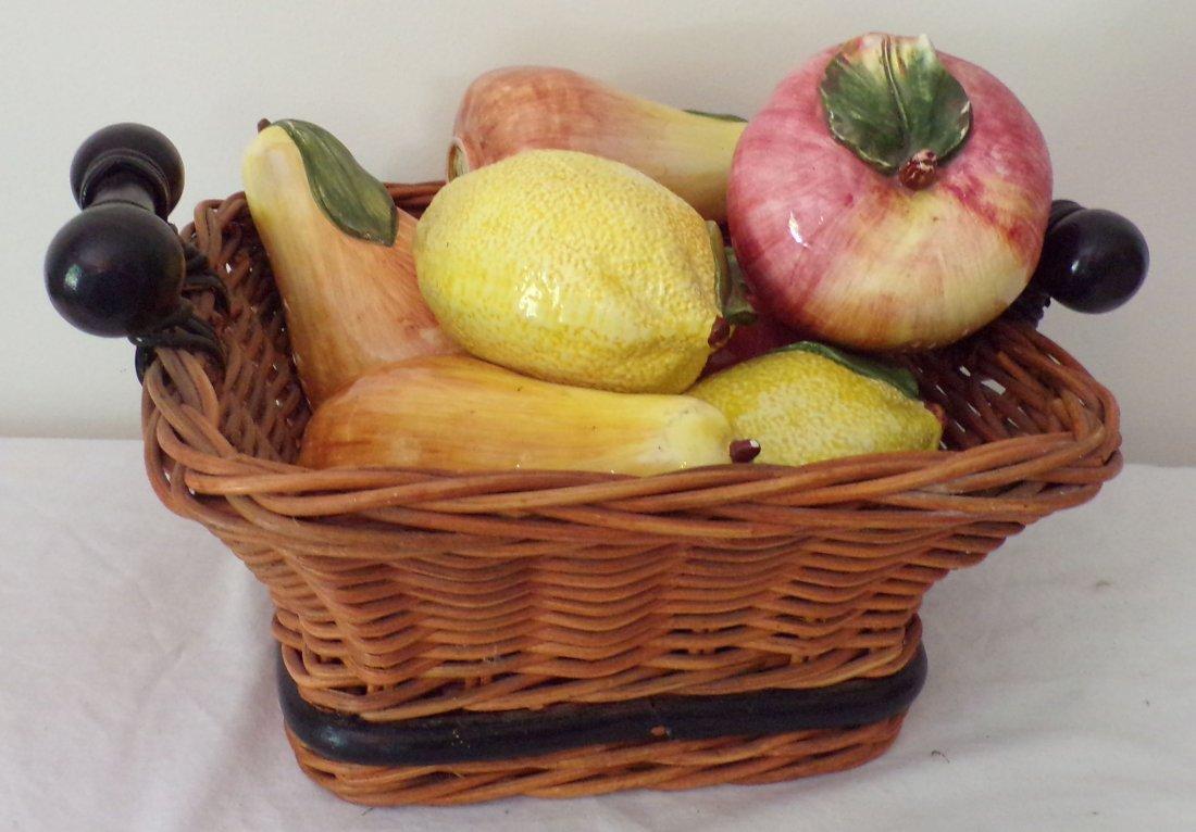 Grouping of Ceramic Fruit