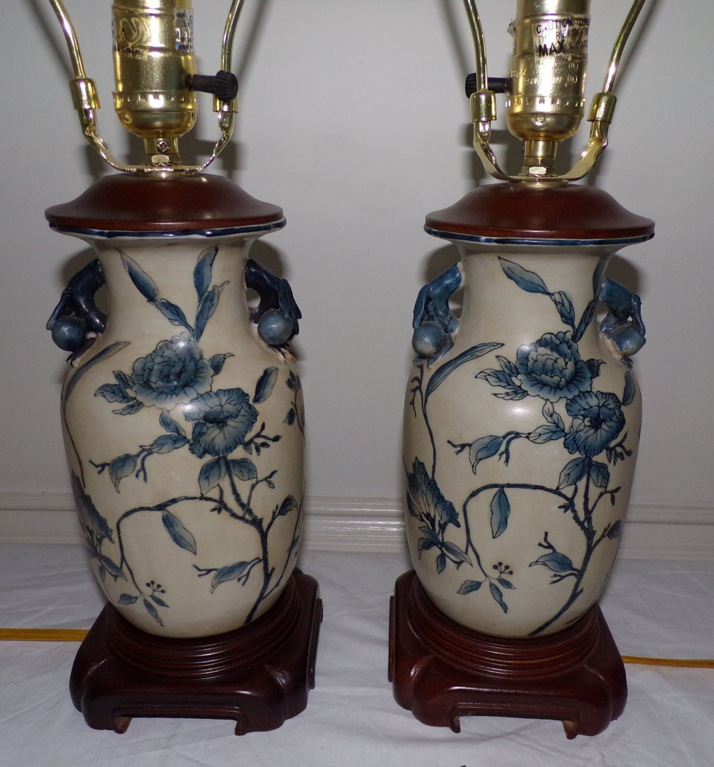 Pair of Modern Asian Style Table Lamps