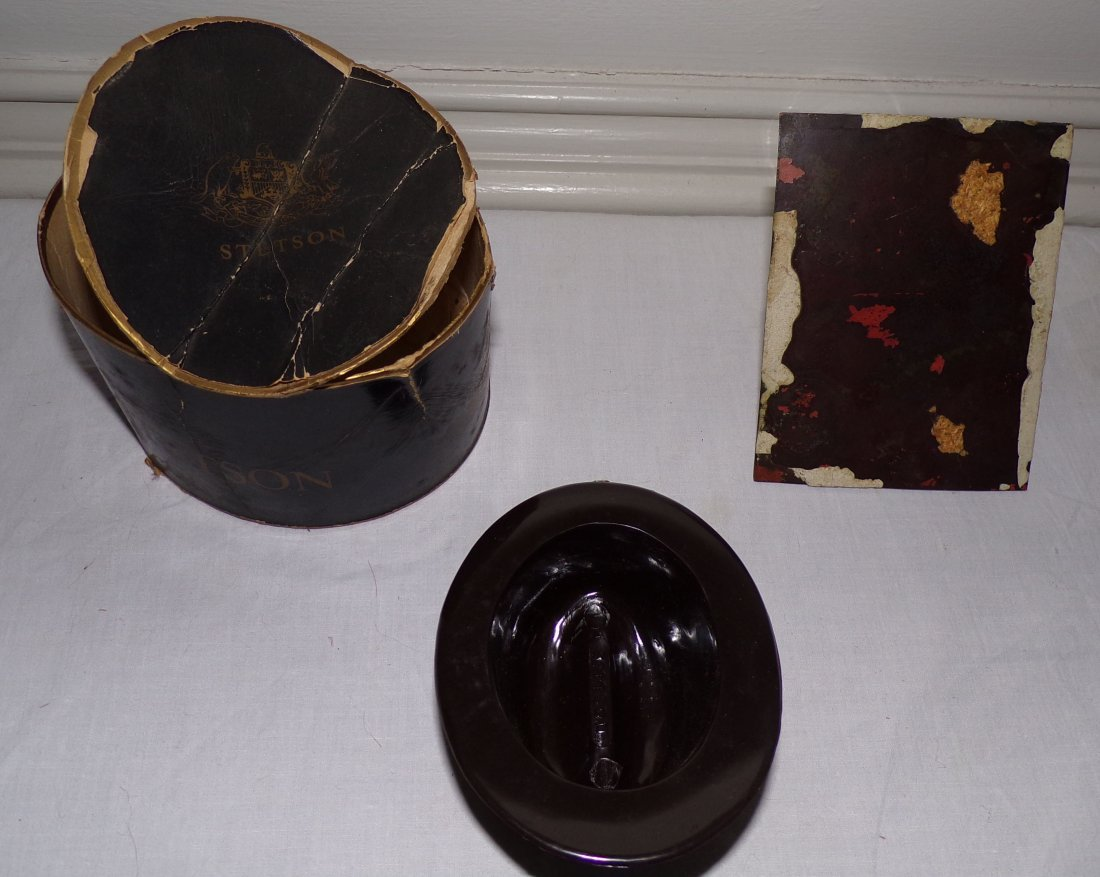 Salesman Sample Stetson Hat AND Portrait on Copper - 2
