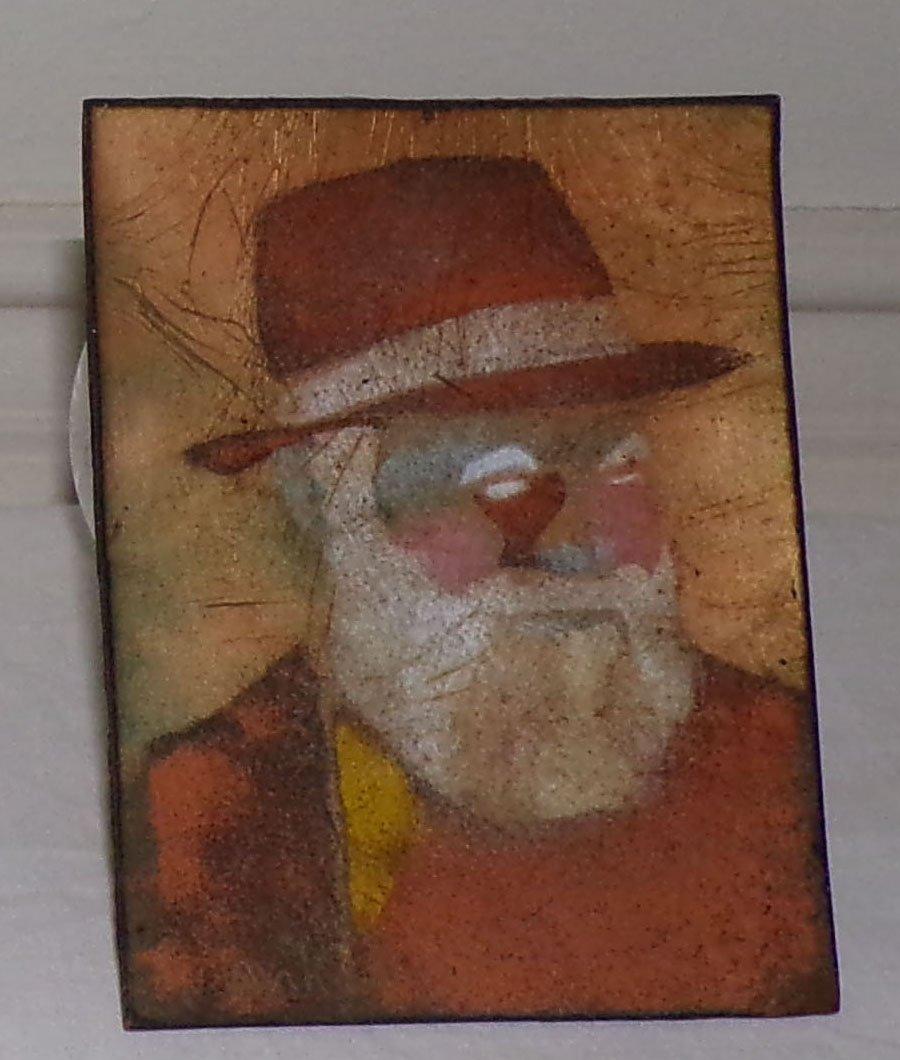 Salesman Sample Stetson Hat AND Portrait on Copper - 5