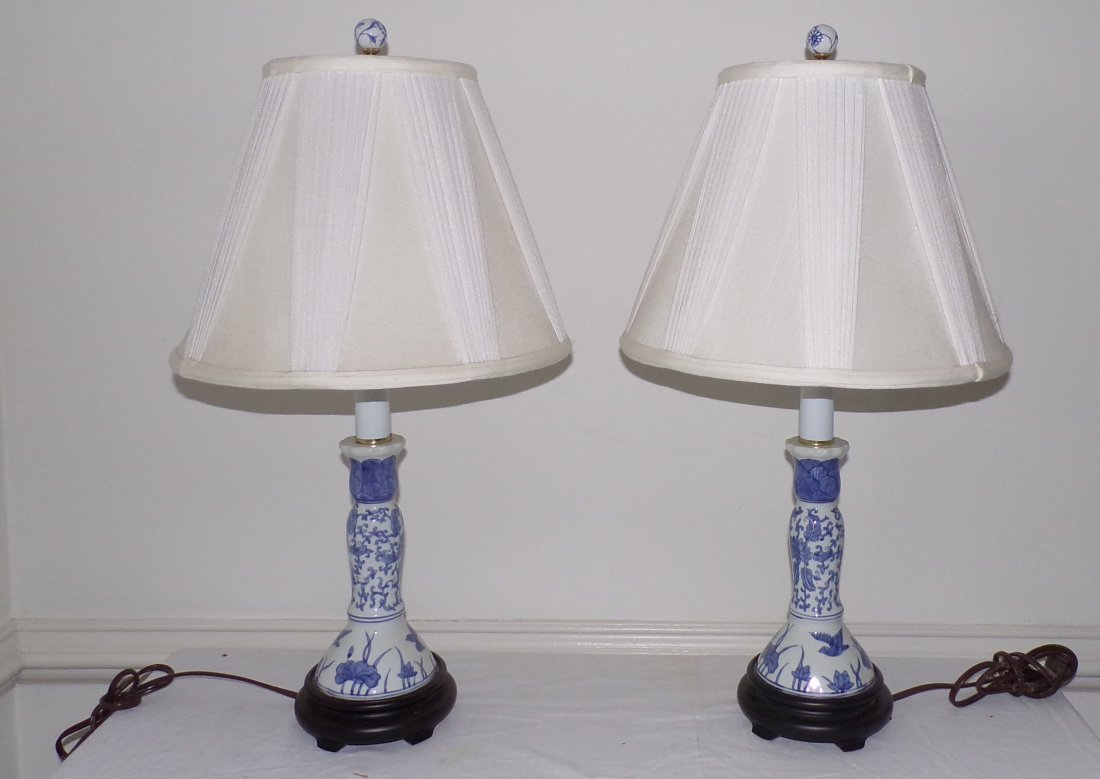 Pair of Modern Table Lamps AND Single Table Lamp
