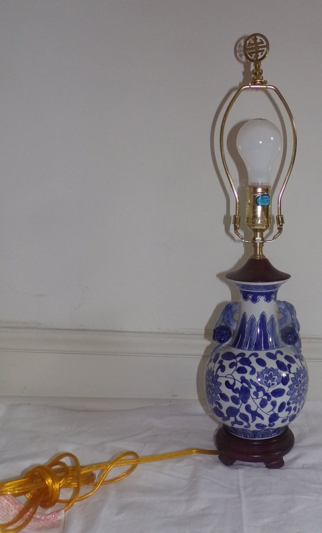 Pair of Modern Table Lamps AND Single Table Lamp - 4