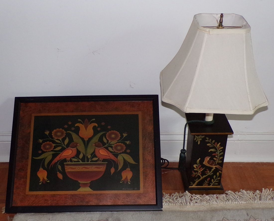 PA Dutch Type Print AND Modern Table Lamp