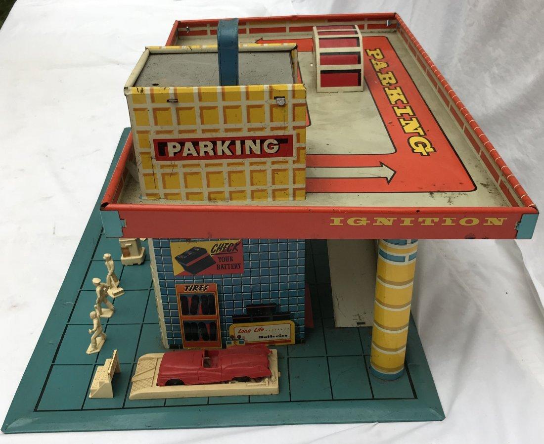 Vintage Tin Litho Service Station - 4
