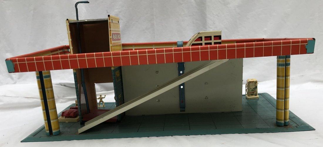 Vintage Tin Litho Service Station - 5