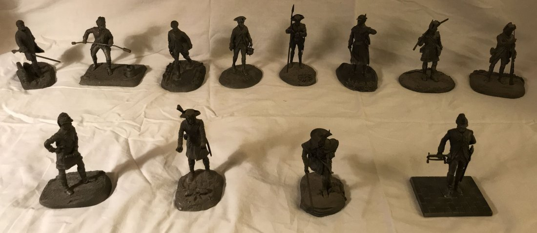 Collection of 13 Pewter Sculptures