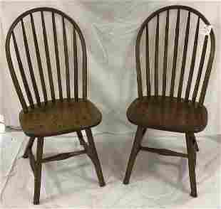 Stylized Windsor Hoop Back Side Chairs