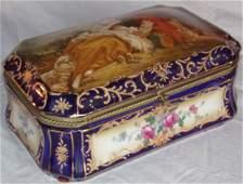Decorated Octagonal Porcelain Box