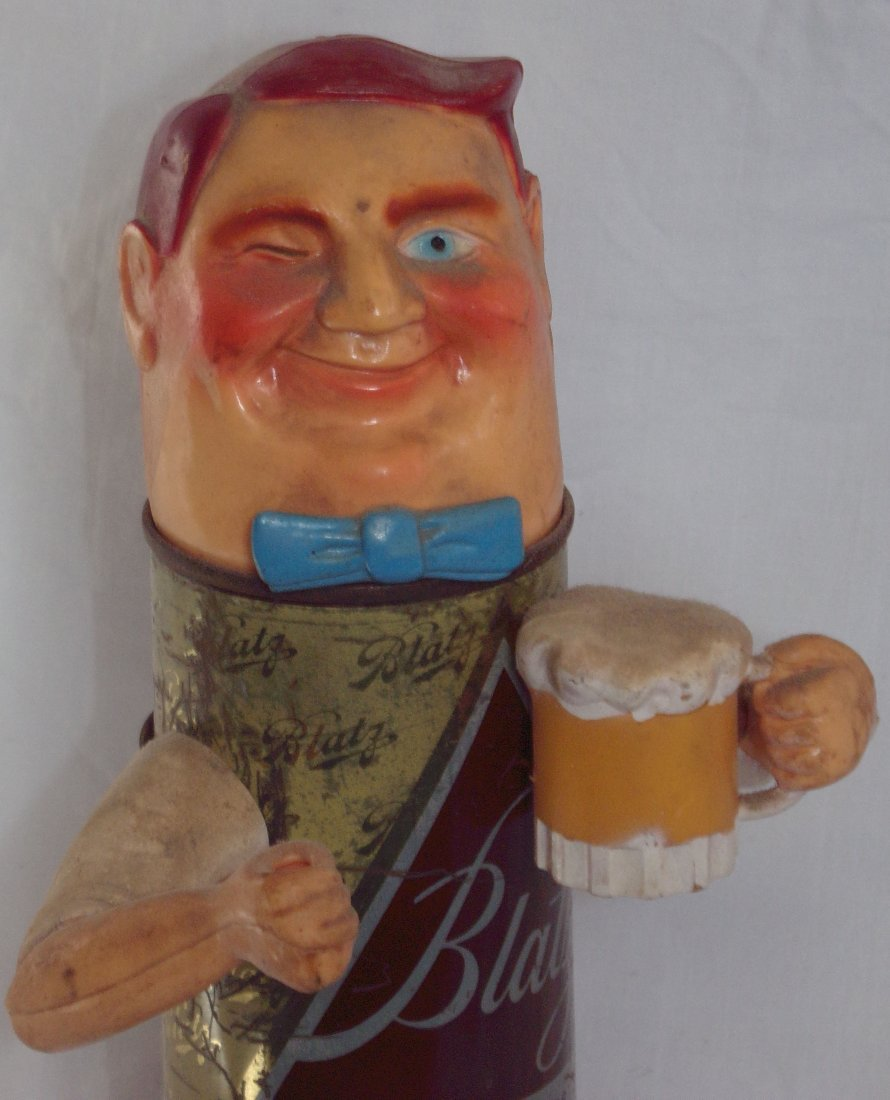 Blatz Beer Back Bar Statue - 3