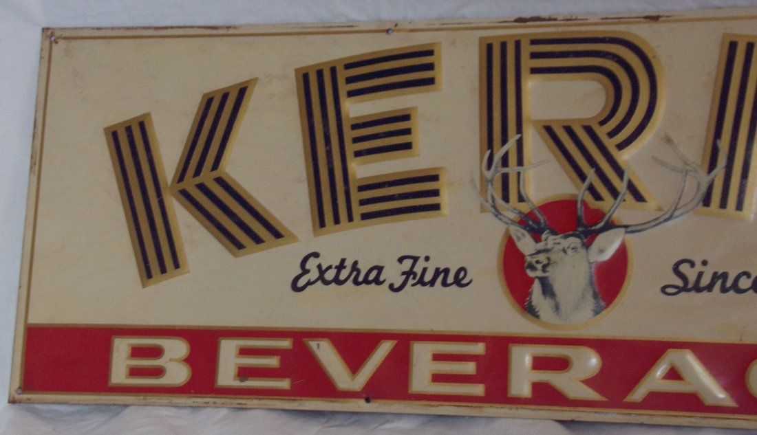 Metal Advertising Sign - Kerns Beverages - 2
