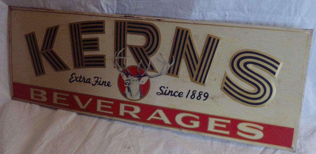 Metal Advertising Sign - Kerns Beverages - 4