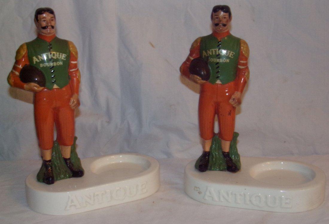 (2) Ceramic Back Bar Statues