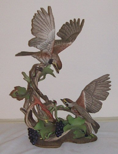 4: Boehm Porcelain - Pair of Horned Lark #400-25
