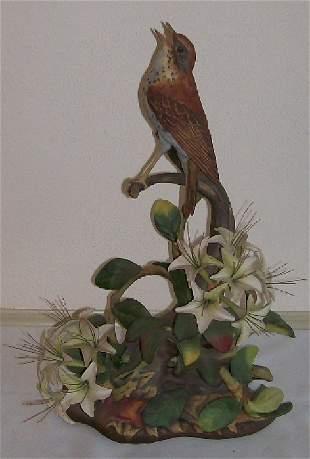 14: Boehm Porcelain -Woodthrush Male #485