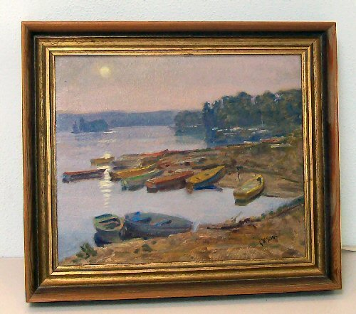18: George Sotter - Oil Painting - Seascape - Bucks Co