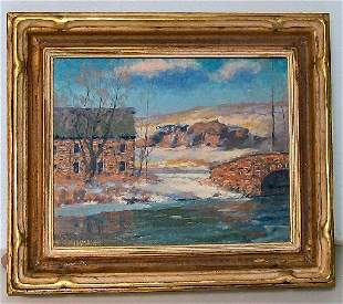 23: Alfred Nunamaker - Oil Painting - Millstream
