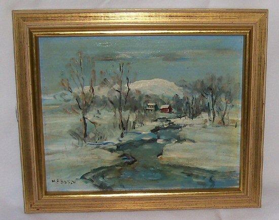 36: Walter E. Baum - Oil Painting - Bucks County Artist