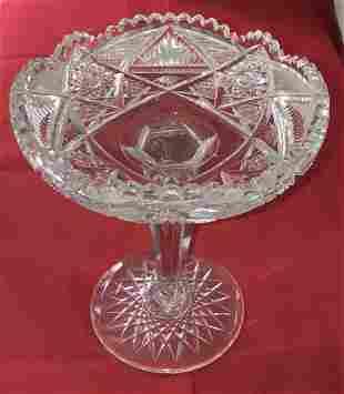Vintage Cut Glass Compote