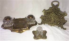 Grouping of Victorian Desk Items