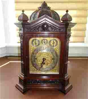 RARE EDWARD & SONS SCOTTISH BRACKET CLOCK