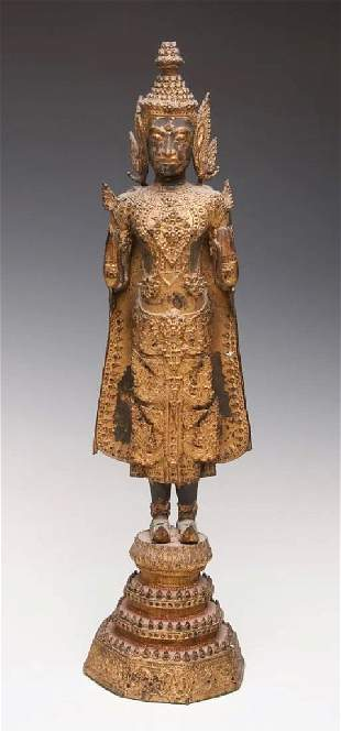 EARLY 17c ASIAN THAI STANDING FIGURE OF BUDDHA