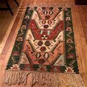 Turkish Handmade Kilim Rug Handwoven Wool Floor Carpet