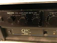 Nikko Beta 20 Preamp and QSC MX700 Power amp