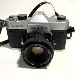 Yashica TL-Electro 35mm SLR Film Camera Working