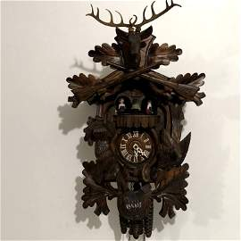 Vintage German Made Cuckoo Clock With Swiss Music