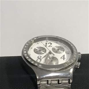 Vintage Men's Swatch Irony Chronograph Watch Stainless