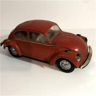 Vintage Rare Red Jim Beam VW Decanter Full Car Beetle