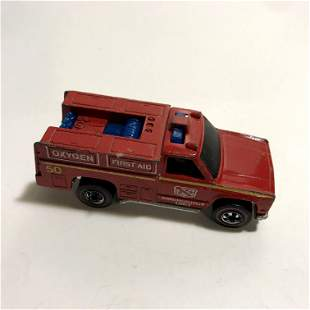 Hot Wheels Redline 1974 Emergency Unit Fire Truck Red