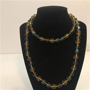 """Vintage Joan Rivers Glass Bead 33"""" Necklace"""