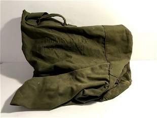 US WWII GI Duffel Bag ID'ed WW2 US Army Canvas Bag