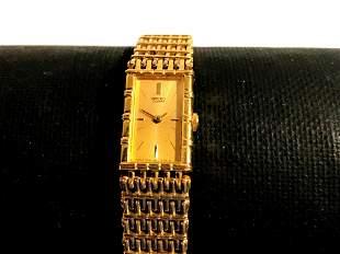 Vintage SEIKO 2E20-6109 Women's Watch Gold tone Dial