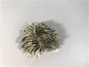 """Vintage Silver Tone Brooch Pin 2 1/4"""""""
