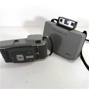 Lot Of Two Vintage Polaroid Cameras Model 320 & 80