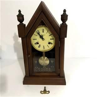 31 Day Peyton Mantle Shelf Steeple Church Gong Clock