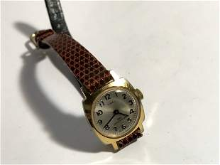 Vintage timex womens working watch brown leather