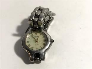 Seiko SQ 50 Women's Watch Silver Date Indicator