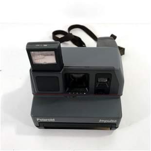 Vintage Polaroid Impulse Instant Camera 600 Film Strap