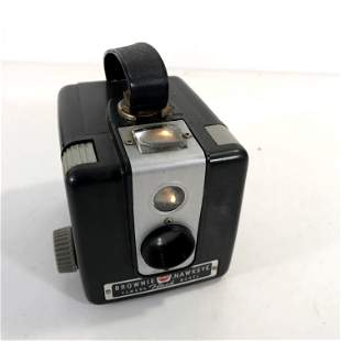 1950s Kodak Brownie Hawkeye Flash Model Bakelite Box
