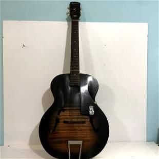 Vintage Harmony F hole Monterey Acoustic Guitar 3151